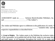 Image of BK Publication Agreement and Memo